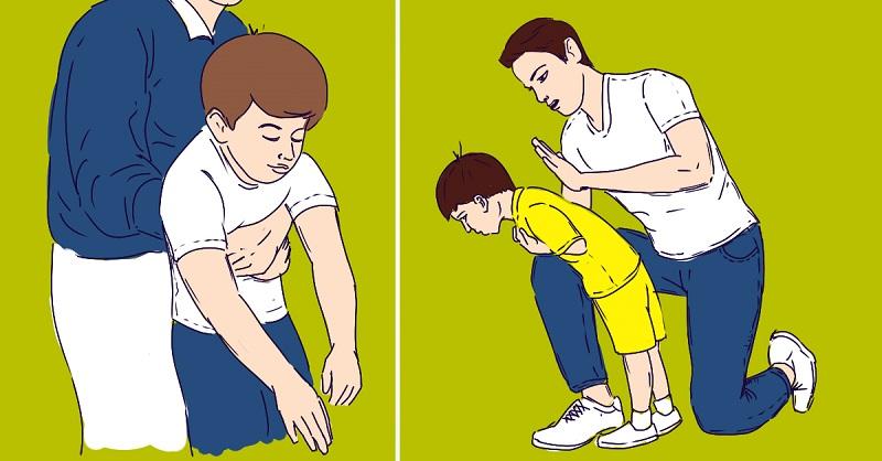 Что-то застряло в горле, а рядом нет врача? Прием Геймлиха спасет жизнь и взрослого, и ребенка. Просто правильно сложи руки и надави куда надо.